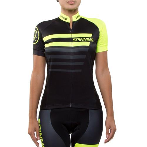 Spinning® Vega Womens Short Sleeve Cycling Jersey Yellow