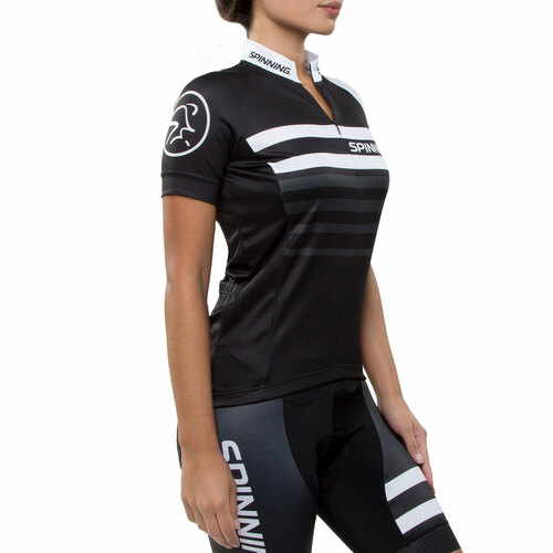Spinning® Vega Womens Short Sleeve Cycling Jersey White