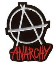 Anarchy Iron-On Patch Round Symbol Logo
