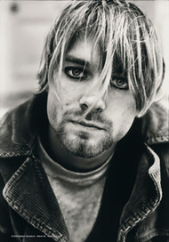 Kurt Cobain Poster Flag Eyeliner Photo Tapestry