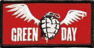 Green Day Iron-On Patch Winged Grenade Logo