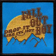 Fall Out Boy Iron-On Patch Drop It Like Its Hot Logo