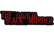 Black Dahlia Murder Iron-On Patch Red Letters Logo