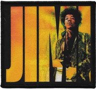 Jimi Hendrix Iron-On Patch In Letters Logo