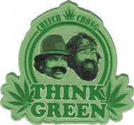 Cheech And Chong Iron-On Patch Think Green Logo
