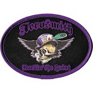 Aerosmith Iron-On Patch Rockin The Joint Skull Logo