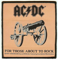 AC/DC Iron-On Patch For Those About To Rock Album Cover Woven