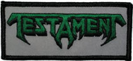 Testament Iron-On Patch Green Letters Logo