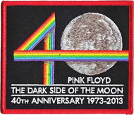 Pink Floyd Iron-On Patch Dark Side 40th Anniversary Logo