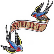 Sublime Iron-On Patch Bluebirds Logo