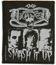 The Damned Sew On Patch Smash It Up Logo