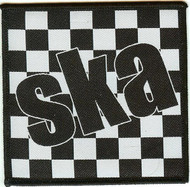 Ska Iron-On Patch Black And White Checkerboard Logo
