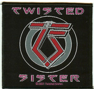 Twisted Sister Sew On Patch TS Logo