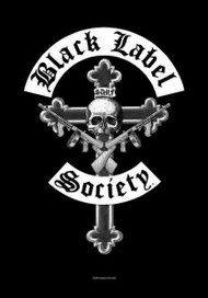Black Label Society Poster Flag Crucifix Logo Tapestry