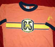 Grateful Dead Ringer T-Shirt Athletics Orange Size Medium