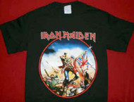 Iron Maiden T-Shirt The Trooper Black Size Youth Medium