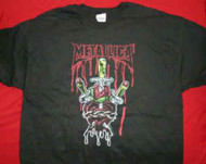 Metallica T-Shirt Heart Sword Logo Black Size XL