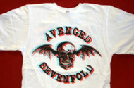 Avenged Sevenfold T-Shirt 3D Logo A7X White Size XL