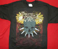 Bullet For My Valentine T-Shirt Skull Logo Black Size XL