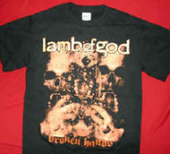 Lamb Of God T-Shirt Broken Hands Black Size Small