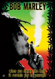 Bob Marley Poster Flag Smoke Herb Tapestry