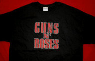 Guns n' Roses T-Shirt Red Letters Logo Black Size Large