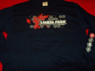 Linkin Park Long Sleeve T-Shirt Navy Blue Size Large