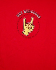 Hey Mercedes T-Shirt Hand Logo Red Size XL
