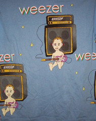 Weezer Long Sleeve T-Shirt Enlightenment Tour Blue Size Large