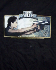 Tomb Raider T-Shirt Lara Croft Two Guns Black Size XL