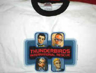 Thunderbirds Ringer T-Shirt International Rescue White Size XL