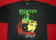 Bob Marley T-Shirt Roots Rock Rebel Black Size XL