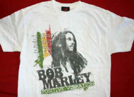 Bob Marley T-Shirt Positive Vibration White Size Medium