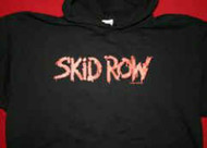 Skid Row Hoodie Sweatshirt Letters Logo Black Size Large