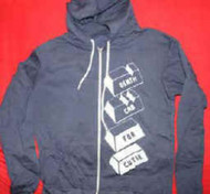 Death Cab For Cutie Zipper Hoodie Sweatshirt Navy Blue Size XL