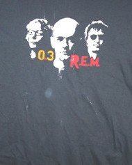 REM T-Shirt Trio 2003 Tour Gray Size Large
