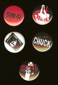 Sum 41 Five Button Pin Set Metal Pins
