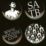 Siouxsie and the Banshees Four Button Pin Set