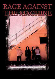 Rage Against The Machine Poster Flag Stairs Photo Tapestry