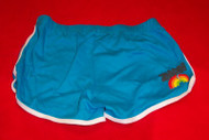 Zwan Girls Shorts Rainbow Logo Blue Size Medium