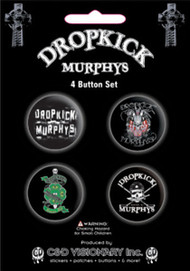 Dropkick Murphys Four Button Pin Set
