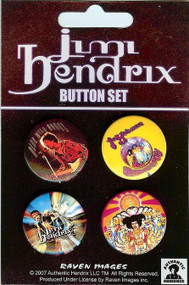 Jimi Hendrix  Four Button Pin Set