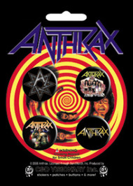 Anthrax Four Button Pin Set