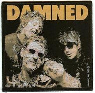The Damned Iron-On Patch Debut Cover Woven Logo