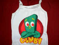 Gumby Babydoll Tank Top Shirt White Size Medium