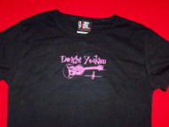 Dwight Yoakum Babydoll T-Shirt Guitar Logo Black One Size