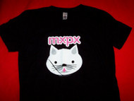 MXPX Babydoll T-Shirt Kittie Logo Black Size Medium