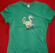 Weezer Babydoll T-Shirt Dragon Logo Green Size Junior Medium