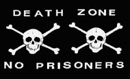 Pirate Death Zone Skull Flag Black