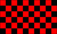 Checkered Flag Black and Red
